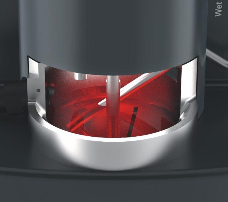 plynule nastaviteľné spätné potrubie mokrej disperznej jednotky