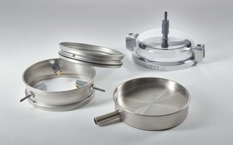 A-3 wet sieving head and pan with outlet